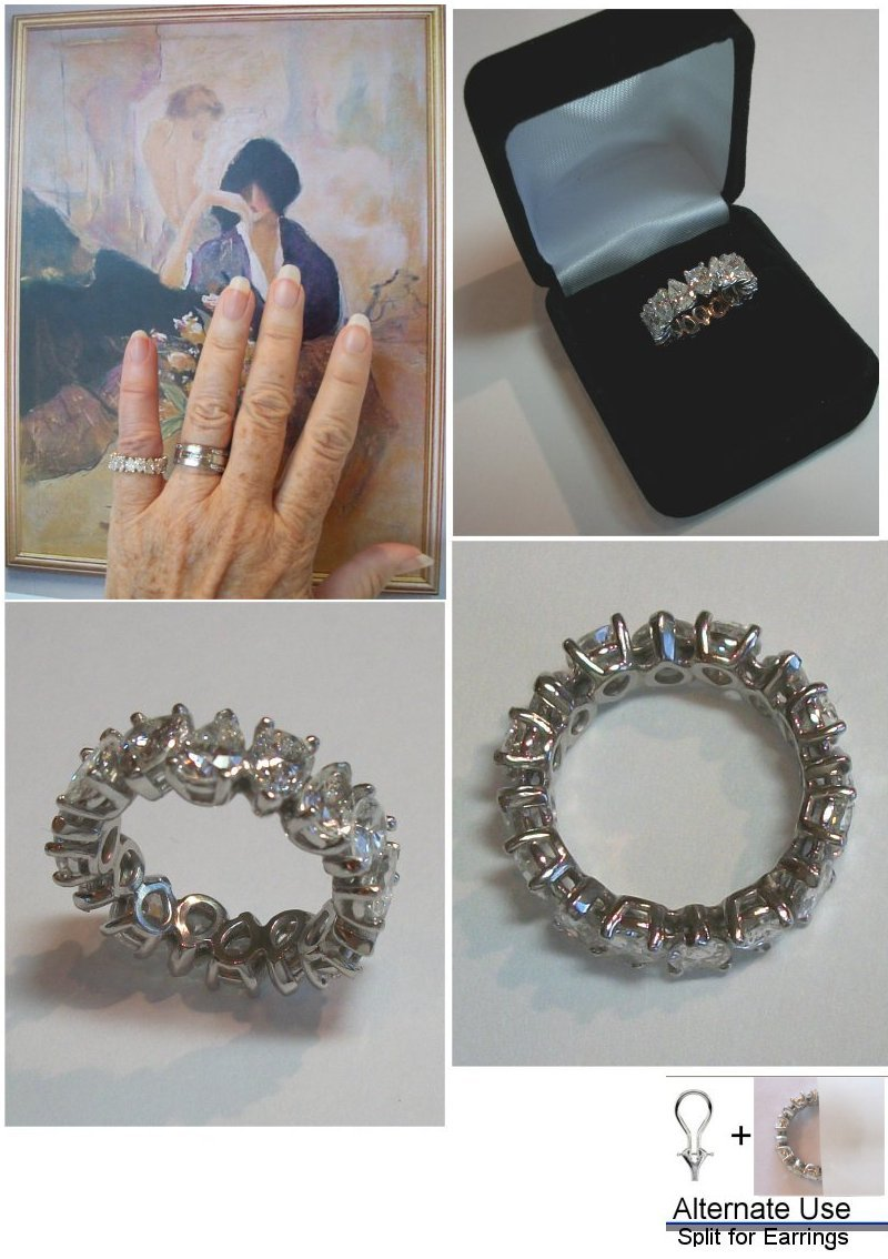 ring oval exclusively a by engagement set dousset carat with eternity diamond bands chelsea band pin platinum jean