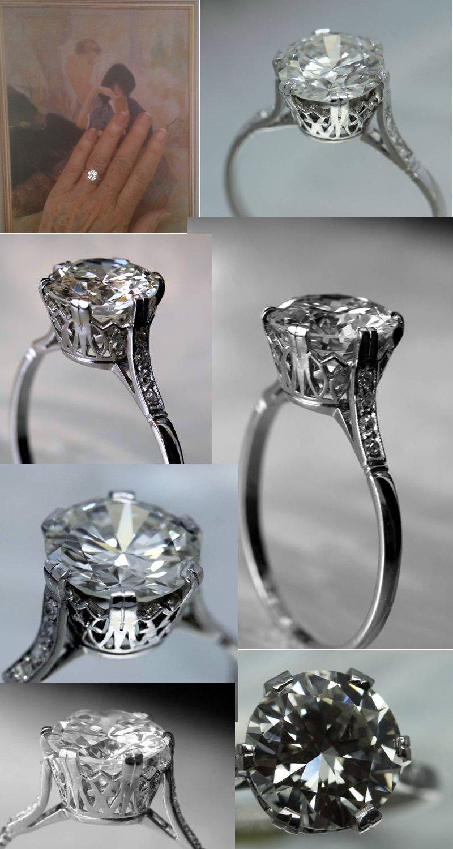 Platinum 2 5 Ct Old European Cut Diamond Solitaire