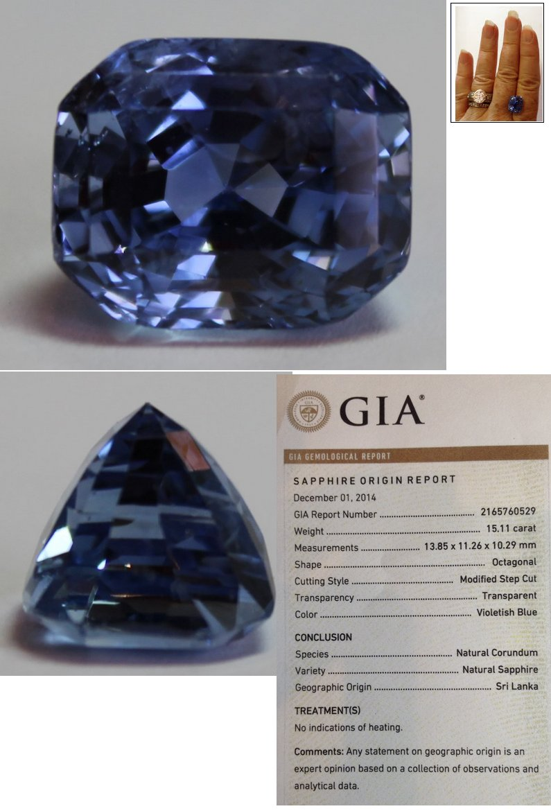blue jewelry unheated cut sapphire loose cushion gia index cert report